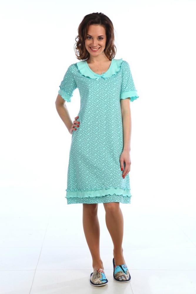 Ночная сорочка СазаСорочки и ночные рубашки<br>Хотите оставаться женственной и элегантной, независимо от обстоятельств либо времени? Ищете стильную и изящную одежду для сна? Непременно обратите внимание на тонкую ночную сорочку Саза, идеальную для теплого времени года!<br>В основе - стопроцентная хлопковая кулирка. Нежное полотно приятно телу и не вызывает аллергии или раздражения. Удобный крой не мешает расслабиться во время отдыха, а изящный декор не причиняет дискомфорт. В наличии - разные цвета и размеры.<br>Ночная сорочка Саза долгое время сохраняет форму, цвет и первоначальный вид. Она не нуждается в сложном уходе, легко отстирывается и разглаживается, практически не деформируется и не выцветает при интенсивной носке. Размер: 60<br><br>Принадлежность: Женская одежда<br>Основной материал: Кулирка<br>Страна - производитель ткани: Россия, г. Иваново<br>Вид товара: Одежда<br>Материал: Кулирка<br>Состав: 100% хлопок<br>Длина рукава: Короткий<br>Длина: 18<br>Ширина: 12<br>Высота: 7<br>Размер RU: 60