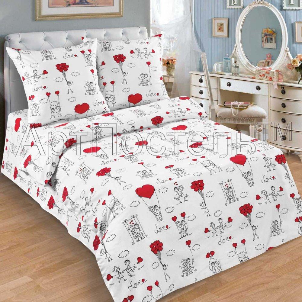 Постельное белье Любовь-морковь (поплин) 1,5 спальныйДетские КПБ<br>Размер: 1,5 спальный<br><br>Высота: 9<br>Размер RU: 1,5 спальный