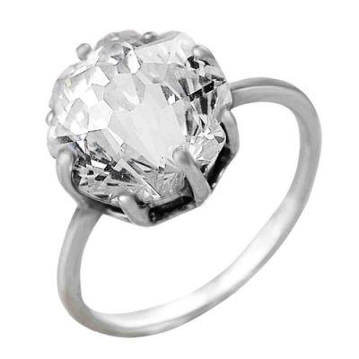 Кольцо серебряное 2382087Серебряные кольца<br>Вес  4,57<br>Вставка  Фианит<br>Покрытие  оксидирование Размер: 17.0<br><br>Высота: 3<br>Размер RU: 17.0