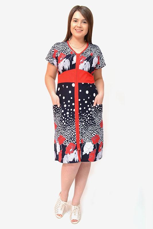Халат женский ВианиЛегкие халаты<br>Даже женщины с идеальными фигурамине могут похвастаться тем, что им идет практически любая одежда, какую бы они на себя не надели. А потому можно сказать, что все дело не в фигуре, а в одежде, которую вы выбираете: удачная модель сделает идеальной любую фигуру, и наоборот.<br>И женский домашний халат Виани - это именно тот случай. Он сшит из мягкой хлопковой кулирки и отличается приятной нежной текстурой и тонкостью, что позволяет изделию принимать форму вашего тела, облегая каждый его изгиб.<br>В расцветке женского домашнего халата Виани использованы яркие и насыщенные тона, поэтому он подарит вам не только комфорт во время носки, но и потрясающий внешний вид! Размер: 54<br><br>Принадлежность: Женская одежда<br>Основной материал: Кулирка<br>Страна - производитель ткани: Россия, г. Иваново<br>Вид товара: Одежда<br>Материал: Кулирка<br>Сезон: Лето<br>Тип застежки: Молния<br>Состав: 100% хлопок<br>Длина рукава: Короткий<br>Длина: 19<br>Ширина: 17<br>Высота: 9<br>Размер RU: 54