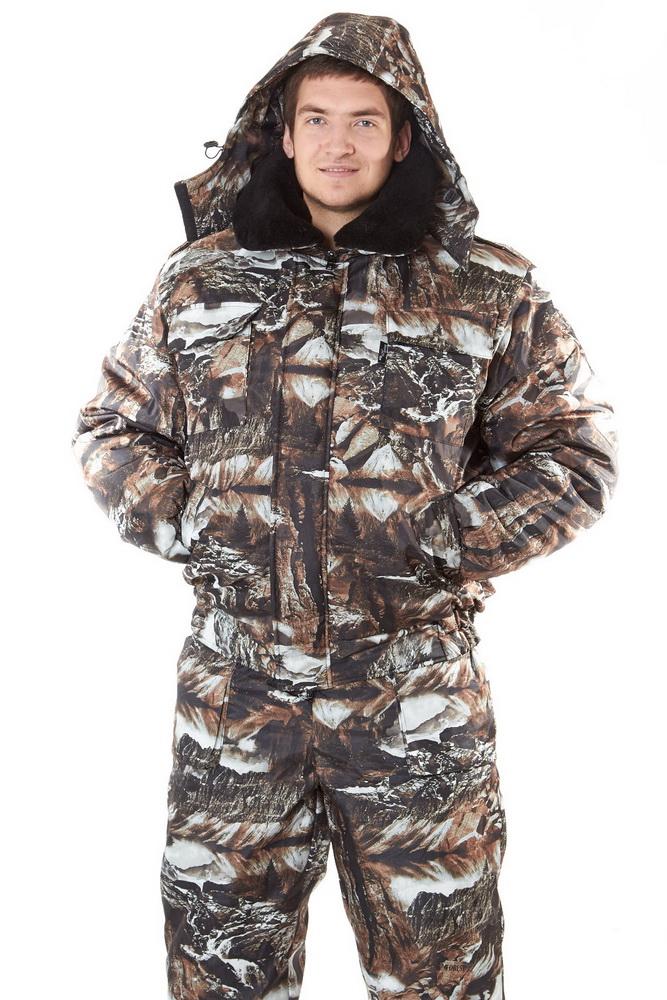 Костюм для охоты и рыбалки МетельДля охотников<br>Одежда для активного отдыха должна соответствовать целому набору требований: износостойкость, практичность, водонепроницаемость и теплоемкость&amp;amp;hellip; В противном случае даже самая долгожданная поездка будет испорчена. Прекрасным пример костюма, который полностью соответствует всем заявленным параметрам, является костюм для охоты и рыбалки Метель.<br>Костюм состоит из укороченной куртки на молнии и полукомбинезона с отрезной нагрудной частью. Куртка &amp;amp;mdash; с ветрозащитным клапаном на липучке, воротником-стойкой, а также со съемными капюшоном и воротником из искусственного меха на пуговицах. Притачной пояс куртки собран на две эластичные ленты, рукава &amp;amp;mdash; на манжетах. Полукомбинезон с центральной застежкой-молнией, сзади на талии собран на эластичную тесьму. Оба изделия оснащены удобными карманами в общем количестве &amp;amp;mdash; 9. Костюм выполнен из дуплекса &amp;amp;mdash; материала, лицевая сторона которого представляет собой нейлоновую основу, а изнанка &amp;amp;mdash; эластичный мягкий трикотаж. Дуплекс прочный, износостойкий, влагонепроницаемый и отлично сохраняет тепло. Для подкладки используется подкладочная гладкокрашеная ткань, в качестве утеплителя &amp;amp;mdash; синтепон.<br>Если в ваших планах намечается поездка на природу с целью активно и интересно отдохнуть, костюм для охоты и рыбалки Метель станет вашим незаменимым спутником! Высокое качество материалов, использованных для пошива, практичный функциональный фасон, классическая расцветка &amp;amp;mdash; все это представлено в широком размерном ряде. С таким костюмом ваш отдых удастся на славу! Размер: 44-46<br><br>Подкладка: Таффета<br>Утепляющий материал: Синтепон (куртка - 350 г/кв.м, полукомбинезон - 200 г/кв.м)<br>Количество карманов: 9<br>Принадлежность: Мужская одежда<br>Основной материал: Дуплекс<br>Страна - производитель ткани: Россия, г. Родники<br>Вид товара: Одежда<br>Материал: Дуплекс<br>Сезон: Зима<br>Тип за