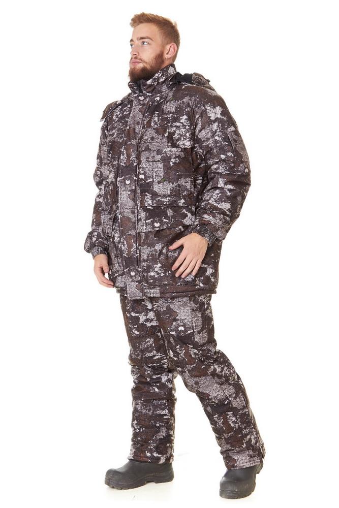 Костюм для охоты и рыбалки ОхотникДля охотников<br>Размер: 44-46<br><br>Подкладка: Флис<br>Утепляющий материал: Синтепон (куртка - 450 г/кв.м, полукомбинезон - 200 г/кв.м)<br>Количество карманов: 13<br>Принадлежность: Мужская одежда<br>Основной материал: Алова<br>Страна - производитель ткани: Россия, г. Родники<br>Вид товара: Одежда<br>Материал: Алова<br>Сезон: Зима<br>Тип застежки: Молния<br>Длина рукава: Длинный<br>Длина: 49<br>Ширина: 30<br>Высота: 25<br>Размер RU: 44-46