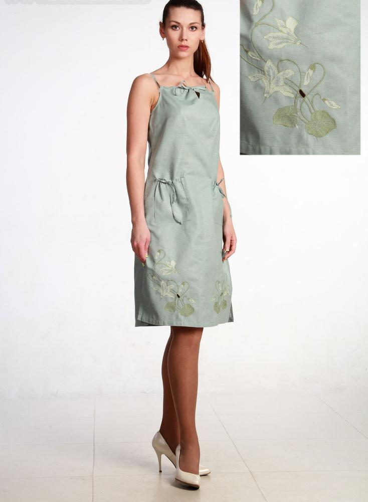 Льняной сарафан модель Хлоя (большемерка)Сарафаны<br>Размер: 46<br><br>Принадлежность: Женская одежда<br>Основной материал: Лен<br>Страна - производитель ткани: Россия, г. Пучеж<br>Вид товара: Одежда<br>Материал: Лен<br>Длина: 18<br>Ширина: 12<br>Высота: 7<br>Размер RU: 46