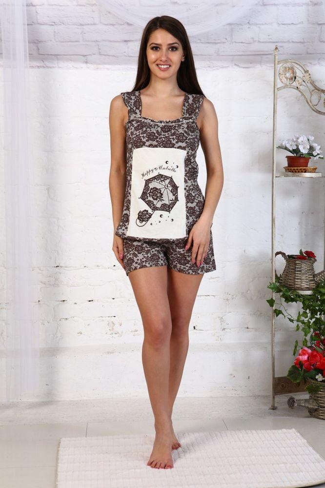 Пижама женская ТерраПижамы<br>Размер: 46<br><br>Высота: 7<br>Размер RU: 46