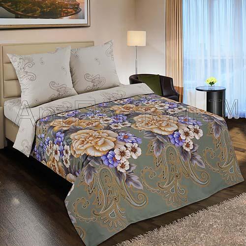 Постельное белье Золотая вышивка (поплин) 2 спальныйПоплин<br>Размер: 2 спальный<br><br>Высота: 7<br>Размер RU: 2 спальный