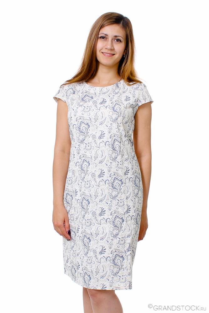 Льняное платье ЛеяПлатья<br>Размер: 46<br><br>Высота: 9<br>Размер RU: 46