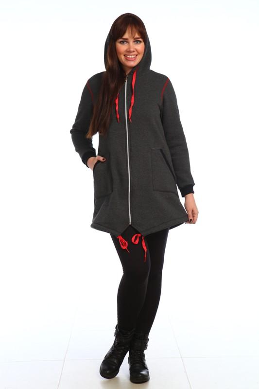 Куртка женская ГэлаксиВерхняя одежда<br>Куртка женская утепленная с капюшоном  разширенная к низу с фигурно оформленным подолом. Капюшон и пройма с декоротивно- контрастной отстрочкой. Куртка украшена элитными люверсами которые удачно сочетаются с серебристой молнией Размер: 58<br><br>Принадлежность: Женская одежда<br>Основной материал: Футер<br>Страна - производитель ткани: Россия, г. Иваново<br>Вид товара: Одежда<br>Материал: Футер<br>Длина: 24<br>Ширина: 17<br>Высота: 9<br>Размер RU: 58