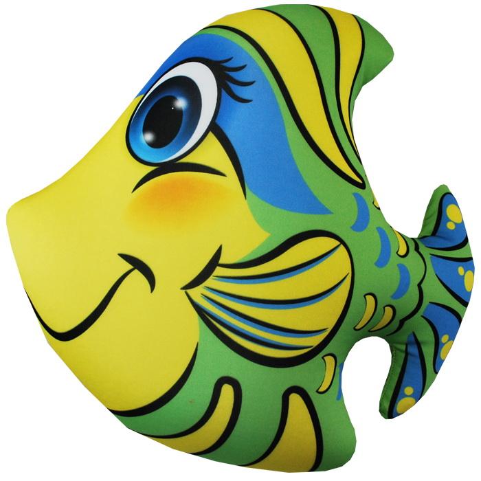 """Антистрессовая игрушка """"Рыбка зеленая"""" 33х34"""