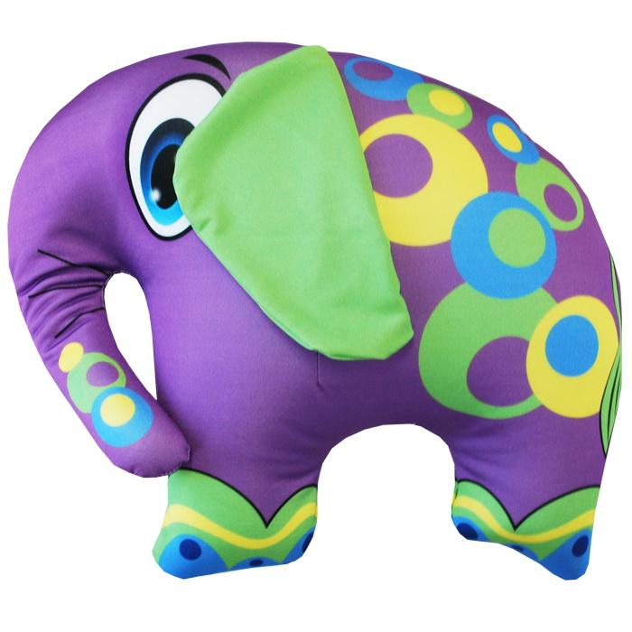 """Антистрессовая игрушка """"Фиолетовый слон"""" 33х28"""