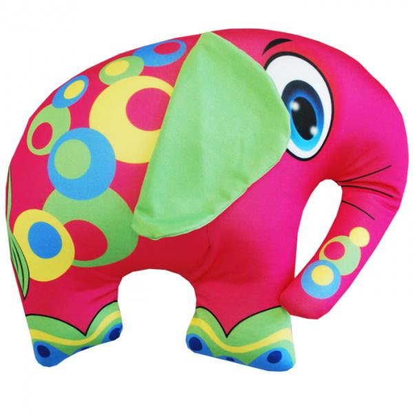 """Антистрессовая игрушка """"Розовый слон"""" 33х28"""