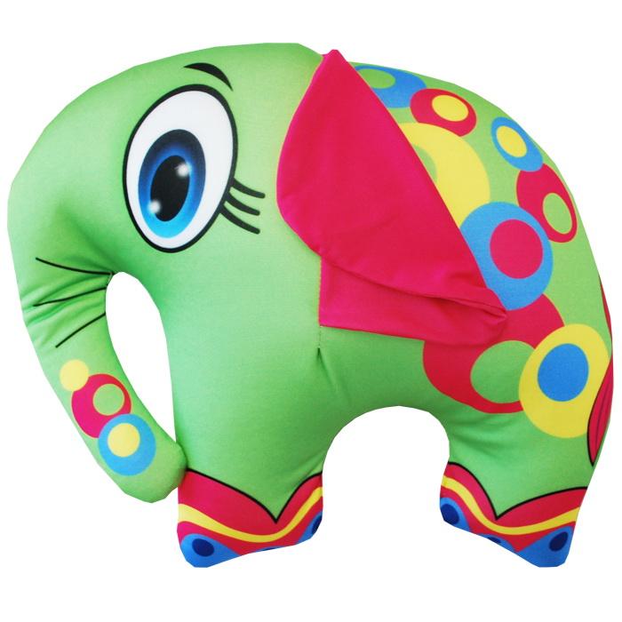 """Антистрессовая игрушка """"Зеленый слон"""" 33х28"""