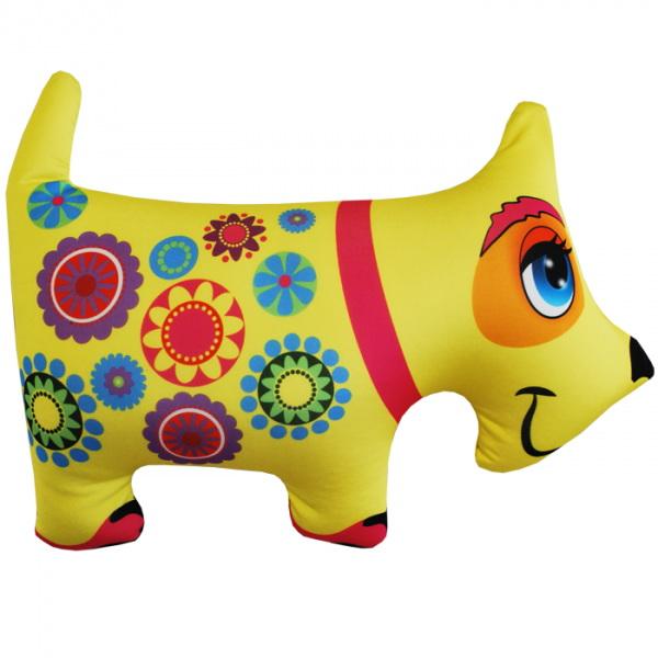 "Антистрессовая игрушка ""Желтая собачка"" 37х27"