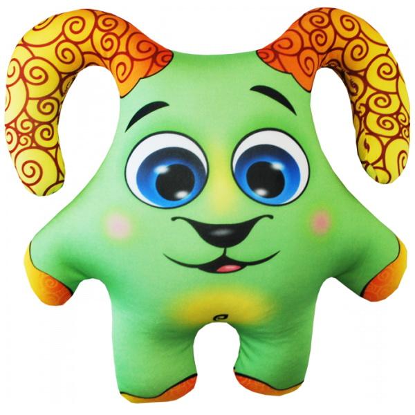 """Антистрессовая игрушка """"Барашек зеленый"""" 34х30"""