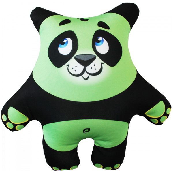 """Антистрессовая игрушка """"Панда зеленая"""" 27х26"""