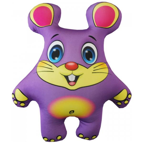 """Антистрессовая игрушка """"Мышка фиолетовая"""" 33х27"""