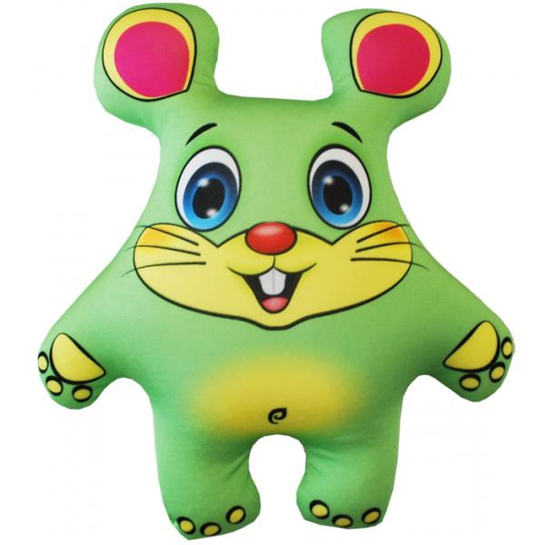 """Антистрессовая игрушка """"Мышка зеленая"""" 33х27"""