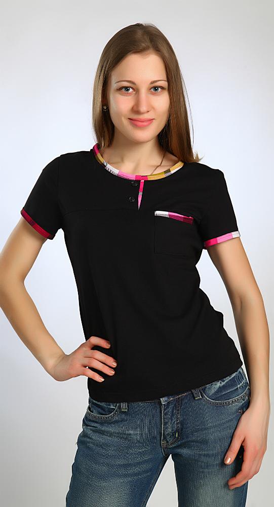 Футболка женская ЖаннаФутболки<br>Футболки - незаменимый элемент повседневного гардероба. Они удобны для прогулок, для дома, для спорта и для множества других нужд. Удобное и практичное решение - женская футболка Жанна, представленная в разных размерах.<br>В основе - натуральная кулирка на основе волокон хлопка. Такая ткань абсолютно экологична, гипоаллергенна и неприхотлива. Она не требует специального ухода, легко стирается, быстро сохнет и долго не выцветает. Кулирка не растягивается, не деформируется и хорошо пропускает воздух, позволяя коже дышать.<br>Интересный внешний вид женской футболки Жанна достигается за счет наличия яркой окантовки, придающей образу некоторой легкости и игривости.<br> <br> Размер: 46<br><br>Производство: Снят с производства/закупки<br>Принадлежность: Женская одежда<br>Основной материал: Кулирка<br>Страна - производитель ткани: Россия, г. Иваново<br>Вид товара: Одежда<br>Материал: Кулирка<br>Сезон: Лето<br>Тип застежки: Без застежки<br>Состав: 100% хлопок<br>Длина рукава: Короткий<br>Длина: 18<br>Ширина: 12<br>Высота: 7<br>Размер RU: 46