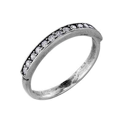 Кольцо серебряное 2382511Серебряные кольца<br>Вес  1,68<br>Вставка  Фианит<br>Покрытие  оксидирование Размер: 16.5<br><br>Высота: 3<br>Размер RU: 16.5