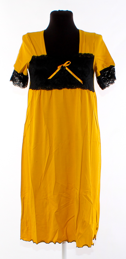 Ночная сорочка ШерриСорочки и ночные рубашки<br>Размер: 52<br><br>Принадлежность: Женская одежда<br>Основной материал: Вискоза<br>Страна - производитель ткани: Россия, г. Иваново<br>Вид товара: Одежда<br>Материал: Вискоза<br>Длина рукава: Короткий<br>Длина: 18<br>Ширина: 13<br>Высота: 7<br>Размер RU: 52