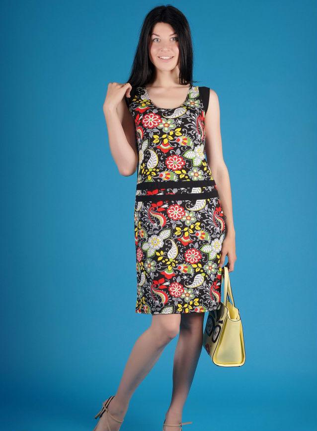 Платье женское АллеграПлатья<br>Размер: 54<br><br>Длина платья: Миди<br>Принадлежность: Женская одежда<br>Основной материал: Вискоза<br>Страна - производитель ткани: Россия, г. Иваново<br>Вид товара: Одежда<br>Материал: Вискоза<br>Длина по спинке : 50 размер - 98 см<br>Состав: 70% вискоза, 25% полиэстер, 5% лайкра<br>Длина рукава: Без рукава<br>Длина: 18<br>Ширина: 12<br>Высота: 7<br>Размер RU: 54
