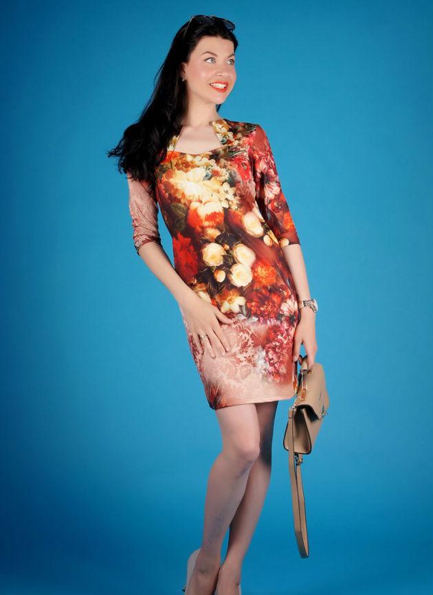 Платье женское АриаПлатья<br>Длина изделия 92 см, длина рукава 47 см (для 50 размера). Размер: 48<br><br>Длина платья: Мини<br>Принадлежность: Женская одежда<br>Основной материал: Полиэстер<br>Страна - производитель ткани: Россия, г. Иваново<br>Вид товара: Одежда<br>Материал: Полиэстер<br>Состав: 100% полиэстер<br>Длина рукава: Средний<br>Длина: 18<br>Ширина: 12<br>Высота: 7<br>Размер RU: 48