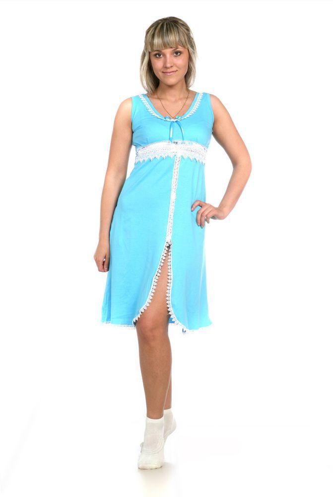 Сорочка женская КатюшаСорочки и ночные рубашки<br>Ночь - это особое время, когда все вокруг приобретает немного иной оттенок, поэтому и ваша одежда для сна должна быть особенной.<br>Женская ночная сорочка Катюша - это умопомрачительный дуэт изящного фасона и элегантного дизайна. Эта сорочка без рукавов имеет округленный вырез, высокую талию и слегка расклешенную юбку с вырезом спереди. Насыщенную однотонную расцветку сорочки дополняют кружевные отделки.<br>Однако красивый дизайн - это не все, потому что женская ночная сорочка Катюша подарит вам во время сна такие ощущения, как безмятежный комфорт и уют, и ценить ее вы точно будете на вес золота!  Размер: 56<br><br>Принадлежность: Женская одежда<br>Основной материал: Кулирка<br>Вид товара: Одежда<br>Материал: Кулирка<br>Длина: 18<br>Ширина: 12<br>Высота: 7<br>Размер RU: 56