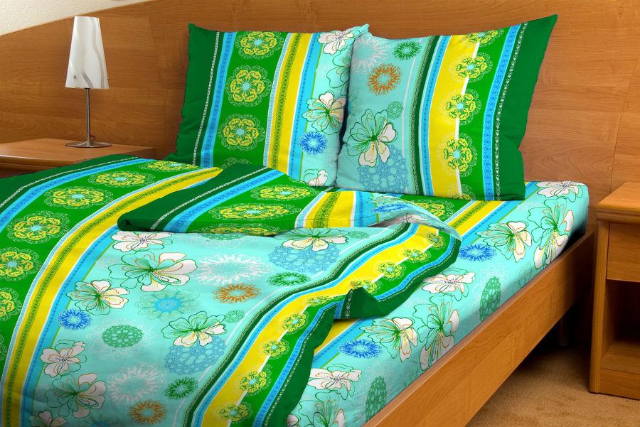 """Постельное белье """"Кружевная сказка зеленый GS"""" (бязь) 1,5 спальный"""