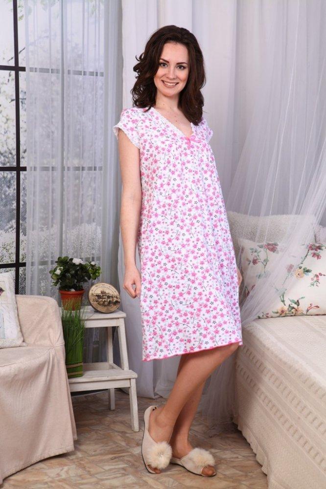 Ночная сорочка АлияСорочки и ночные рубашки<br>Разве можно найти что-то более практичное и приятное, чем рубашки для сна? А может ли рубашка быть удачнее, чем просторная и свободная ночная сорочка Алия?<br>Кулирка по структуре - поперечновязанное однослойное трикотажное полотно, созданное петельным плетением. Тонкая трикотажная ткань используется повсюду: от белья до повседневной одежды или домашнего текстиля.<br>Сорочка Алия отличается безупречным качеством, ведь мы предлагаем текстиль только от лучших производителей. Мы предлагаем обширный размерный ряд, позволяющий подобрать идеальный вариант под себя либо в подарок.  Размер: 58<br><br>Принадлежность: Женская одежда<br>Основной материал: Кулирка<br>Страна - производитель ткани: Россия, г. Иваново<br>Вид товара: Одежда<br>Материал: Кулирка<br>Состав: 100% хлопок<br>Длина рукава: Короткий<br>Длина: 18<br>Ширина: 12<br>Высота: 7<br>Размер RU: 58