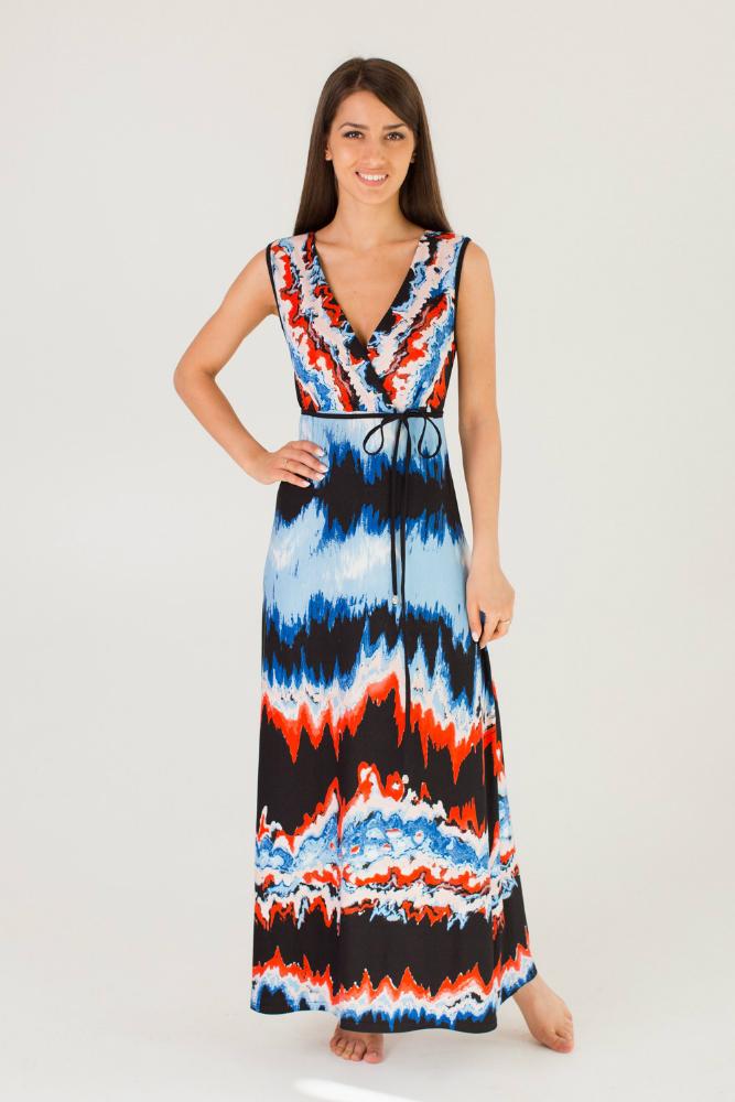 Платье женское ШеронПлатья<br>Ищете легкое летнее платье для отпуска или прогулок? Пользуетесь сезоном и предпочитаете яркие краски? Ваш вариант - красочное и оригинальное женское платье Шерон!<br>Особенность вискозы, используемой для пошива - специальное тонкое плетение, за счет которого достигается легкость и прочность. Она хорошо вентилируется, обладает оптимальной гигроскопичностью, быстро отдает влагу. На ней не образуются складки и помятости, так что уход не потребует больших временных затрат. Удлиненный фасон придаст летнему образу романтичности, а стильный дизайн сделает вас неотразимой!<br>Легкое и воздушное, женское платье Шерон легко переносит повседневную носку и частые стирки. Оно не блекнет и не выцветает. Доступная цена обязательно впишется в бюджет.  Размер: 46<br><br>Длина платья: Макси<br>Принадлежность: Женская одежда<br>Основной материал: Вискоза<br>Страна - производитель ткани: Россия, г. Иваново<br>Вид товара: Одежда<br>Материал: Вискоза<br>Длина рукава: Без рукава<br>Длина: 18<br>Ширина: 12<br>Высота: 7<br>Размер RU: 46