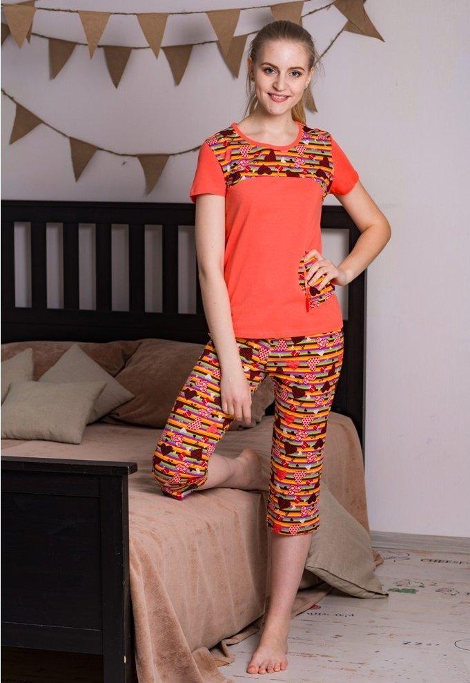 Пижама женская Анжела (бриджи)Пижамы<br>Размер: 50<br><br>Высота: 7<br>Размер RU: 50