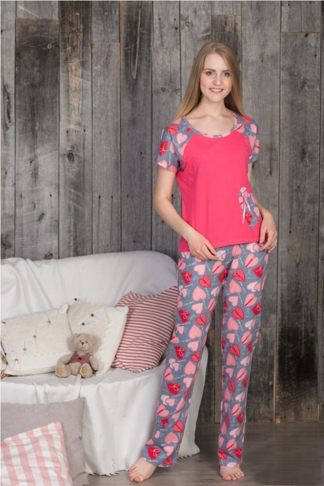 Пижама женская Анжела (брюки)Пижамы<br>Размер: 48<br><br>Высота: 7<br>Размер RU: 48