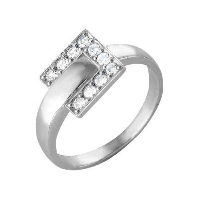Кольцо серебряное 2386062ДСеребряные кольца<br>Вес  3,30<br>Вставка  Фианит<br>Покрытие  родирование Размер: 19.0<br><br>Высота: 3<br>Размер RU: 19.0