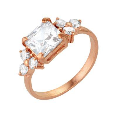 Кольцо серебряное 2386439Серебряные кольца<br>Вес  2,33<br>Вставка  фианит<br>Покрытие  золочение Размер: 16.5<br><br>Высота: 3<br>Размер RU: 16.5