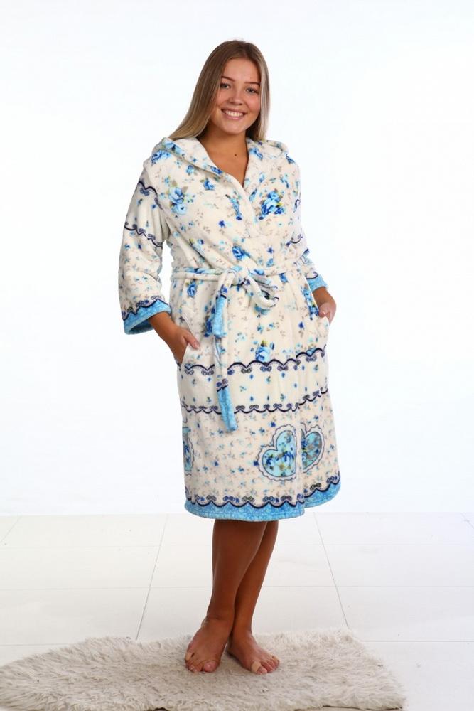 Халат женский АллеграТеплые халаты<br>Размер: 52<br><br>Принадлежность: Женская одежда<br>Основной материал: Велсофт<br>Страна - производитель ткани: Россия, г. Иваново<br>Вид товара: Одежда<br>Материал: Велсофт<br>Тип застежки: Пояс<br>Состав: 100% полиэстер<br>Длина рукава: Длинный<br>Длина: 30<br>Ширина: 20<br>Высота: 11<br>Размер RU: 52