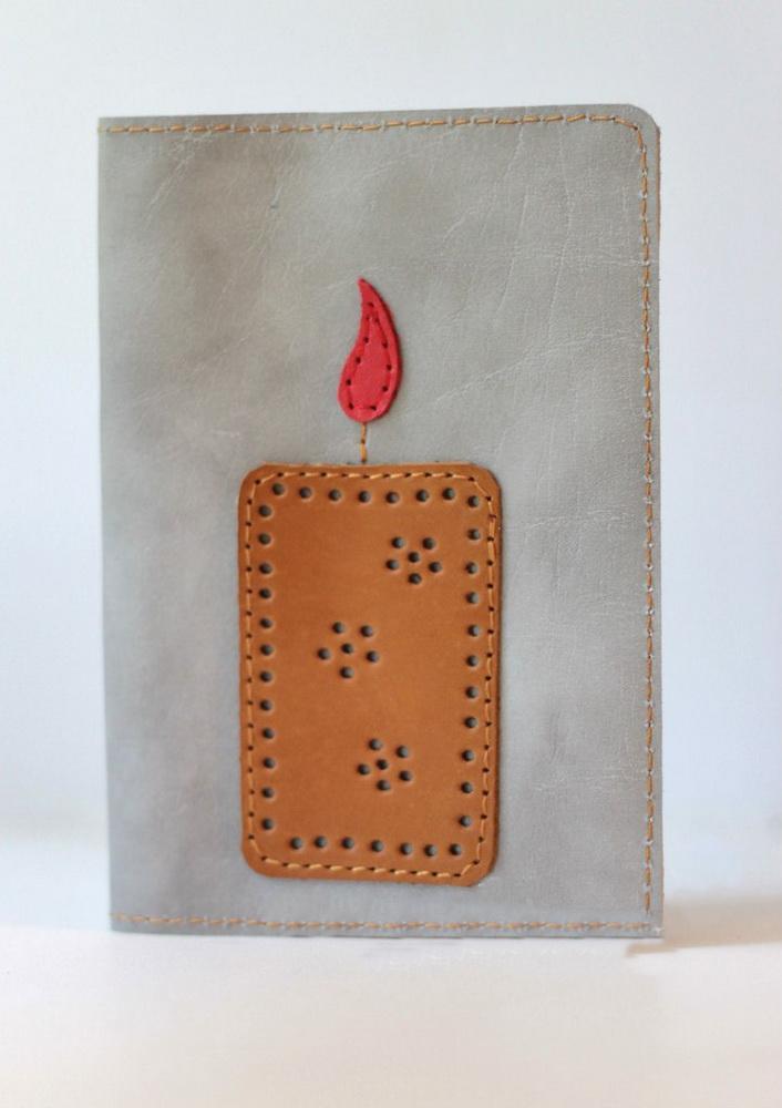 """Обложка на паспорт """"Огонь"""""""