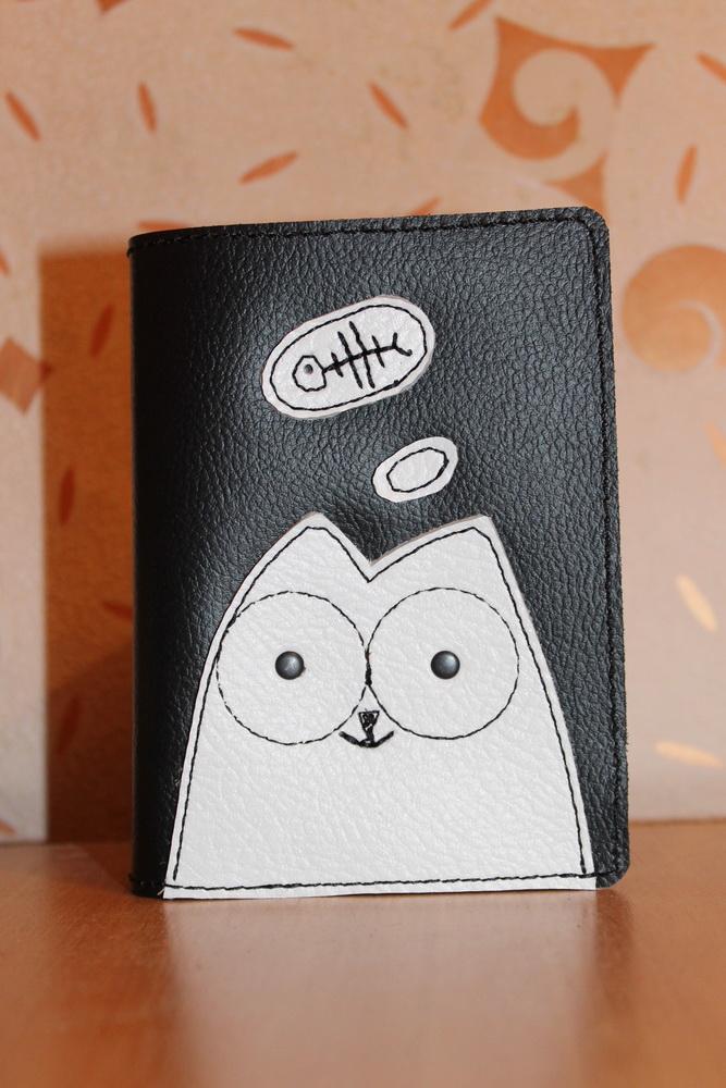 """Обложка на паспорт """"Голодный котик"""""""