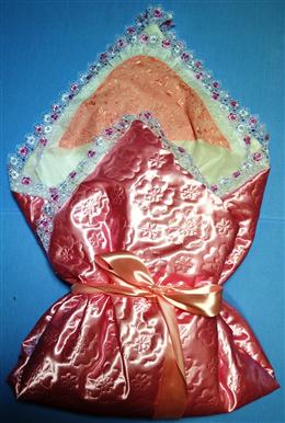 Набор на выписку 9 предметов с одеялом (атлас)
