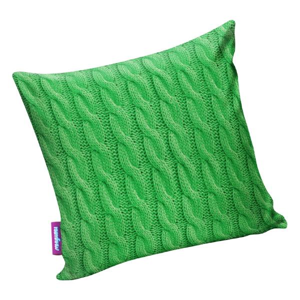 """Декоративная подушка """"Вязаные косы зеленый"""" 35*35"""