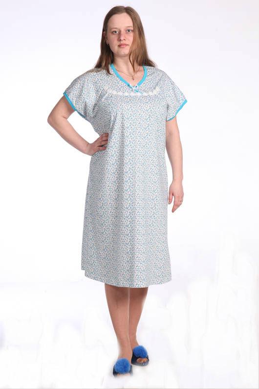 Ночная сорочка НарваСорочки и ночные рубашки<br>Нет ничего хуже бессонной ночи, вина которой - неудобная одежда для сна. Не допустите, чтобы это случилось с вами, а мы вам поможем подобрать одежду, в которой спать вам будет предельно удобно.   Этой одеждой является женская ночная сорочка Нарва, которая имеет свободный крой, среднюю длину и короткие рукава. Если данное изделие кажется вам бесформенным, то посмотрите на это с другой стороны, ведь именно благодаря такому фасону сорочка не будет стеснять вас во время сна, а подарит свободу вашему телу.   А сшита женская ночная сорочка Нарва из хлопковой ткани, которая возьмет на себя заботу о вашем теле, пока вы будете наслаждаться сладким и безмятежным сном! Размер: 48<br><br>Принадлежность: Женская одежда<br>Основной материал: Кулирка<br>Страна - производитель ткани: Россия, г. Иваново<br>Вид товара: Одежда<br>Материал: Кулирка<br>Состав: 100% хлопок<br>Длина рукава: Короткий<br>Длина: 18<br>Ширина: 12<br>Высота: 7<br>Размер RU: 48