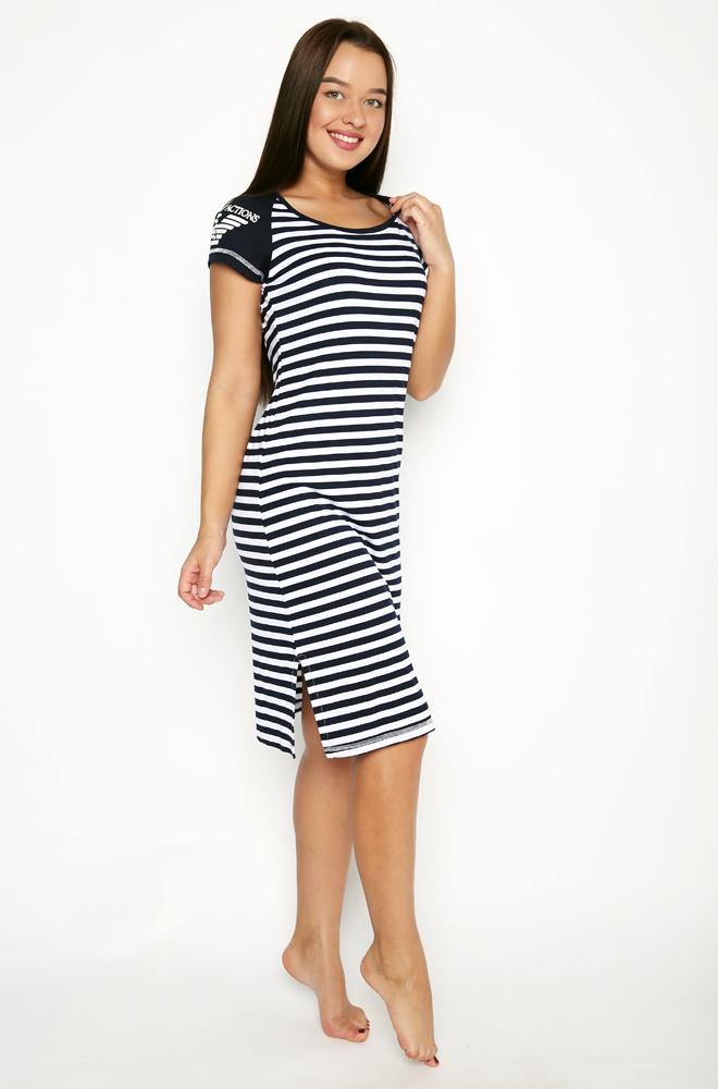 Платье женское ОрелПлатья<br>Платье женское, свободного кроя, удлиненное с разрезами, с принтом на одном плече.<br><br> Размер: 48<br><br>Высота: 7<br>Размер RU: 48