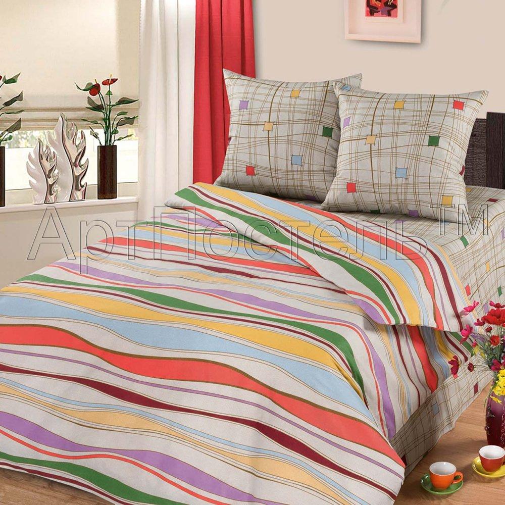 Постельное белье Волна (бязь) 2 спальный с Евро простынёйПРЕМИУМ<br>Размер: 2 спальный с Евро простынёй<br><br>Высота: 8<br>Размер RU: 2 спальный с Евро простынёй