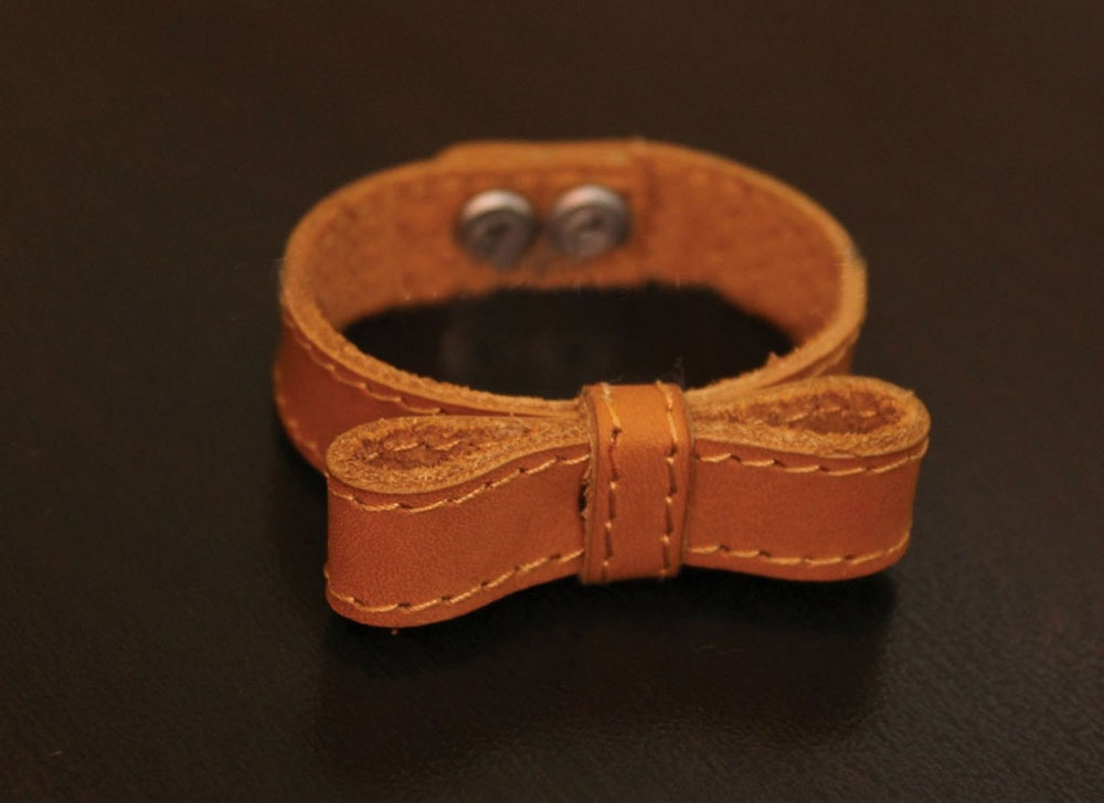 Браслет кожаный БантикКожаные браслеты<br>Размер: 19<br><br>Высота: 2<br>Размер RU: 19
