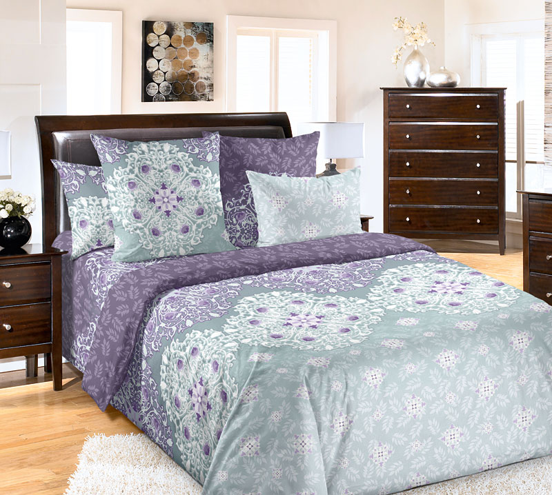 """Постельное белье """"Стайл"""" фиолетовый (бязь) 2 спальный"""