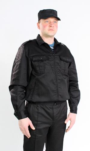 Костюм СекьюритиДля охранников<br>Костюм Секьюрити черный состоит из куртки и брюк. Куртка укороченная с центральной застежкой на тесьму-молнию, с нижними прорезными карманами на молнии и верхними накладными карманами с отстроченными складками, с клапанами на кнопках. Рукав втачной, длинный, на манжете. Низ куртки на притачном поясе, по бокам стянут на эластичную тесьму. Брюки прямые, на притачном поясе со шлевками, с центральной застежкой на тесьму-молнию, карманами с отрезным бочком и задним прорубным карманом с клапаном, застёгивающимся на кнопку. С отстроченными стрелками и усилениями в области колена. Размер: 56-58<br><br>Принадлежность: Мужская одежда<br>Основной материал: Грета<br>Страна - производитель ткани: Россия, г. Иваново<br>Вид товара: Одежда<br>Материал: Грета<br>Состав: 65% полиэстер, 35% хлопок<br>Длина: 27<br>Ширина: 25<br>Высота: 8<br>Размер RU: 56-58