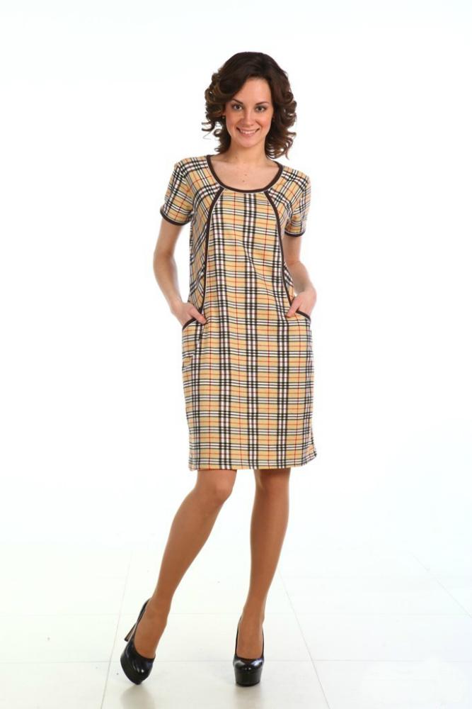 Туника женская ШаяТуники<br>Женская туника - одна из самых удобных вещей женского гардероба, потому что ее можно носить и как самостоятельное платье, и в дуэте с брюками или шортами. Отличный тому пример &amp;amp;mdash; женская туника Шая.<br>Модель сшита из мягкой кулирки и имеет элегантную расцветку, стилизованную под классическую клетку Барберри. Она выполнена в полуприталенном фасоне с короткими рукавами; горловина и рукава туники, а также рельефы отделаны кантом. Модель дополнена двумя небольшими накладными карманами, которые придают ей практичность.<br>Вы можете приобрести женскую тунику Шая, выбрав нужный размер из представленного размерного ряда, а чтобы правильно определиться с размером, обратите внимание на Таблицу размеров, которая расположена на странице товара. Размер: 56<br><br>Принадлежность: Женская одежда<br>Основной материал: Кулирка<br>Страна - производитель ткани: Россия, г. Иваново<br>Вид товара: Одежда<br>Материал: Кулирка<br>Сезон: Лето<br>Состав: 100% хлопок<br>Длина рукава: Короткий<br>Длина: 18<br>Ширина: 12<br>Высота: 7<br>Размер RU: 56