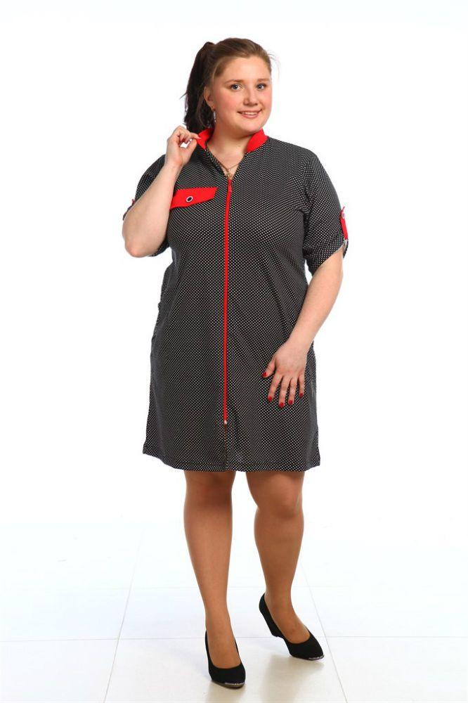 Халат женский РавенаЛегкие халаты<br>Чтобы чувствовать себя комфортно и непринужденно в собственном доме, необходимо позаботиться о домашней одежде. Обратите внимание на женский халат Равена, который так удобно и приятно носить!<br>Кулирка - воздушная хлопковая ткань, считающаяся одной из самых легких за счет небольшой плотности. Специфическое плетение обеспечивает прочность и износостойкость материала. Петельное плетение практически не мнется, хорошо тянется в ширину и сразу восстанавливает форму. Еще одно неоспоримое преимущество кулирки - дешевизна, никак не влияющая на качество материала.<br>Женский халат Равена - это средняя длина, короткий рукав и широкий размерный ряд. Такая покупка - отменный выбор для повседневной носки.  Размер: 48<br><br>Принадлежность: Женская одежда<br>Основной материал: Кулирка<br>Страна - производитель ткани: Россия, г. Иваново<br>Вид товара: Одежда<br>Материал: Кулирка<br>Сезон: Лето<br>Тип застежки: Молния<br>Состав: 100% хлопок<br>Длина рукава: Короткий<br>Длина: 19<br>Ширина: 17<br>Высота: 9<br>Размер RU: 48