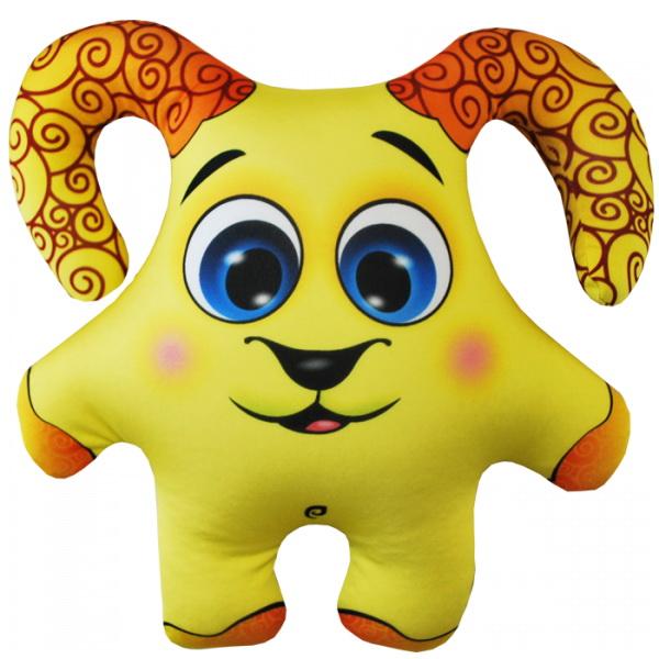 """Антистрессовая игрушка """"Барашек желтый"""" 34х30"""