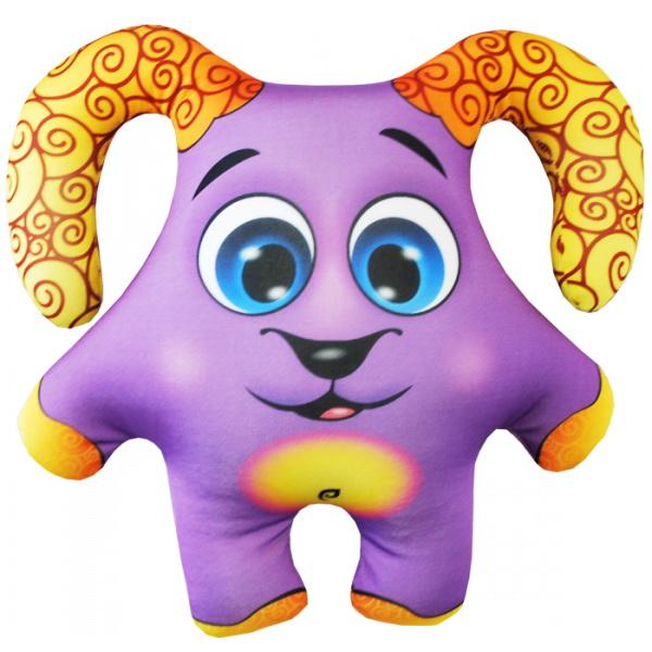 """Антистрессовая игрушка """"Барашек фиолетовый"""" (34х30)"""