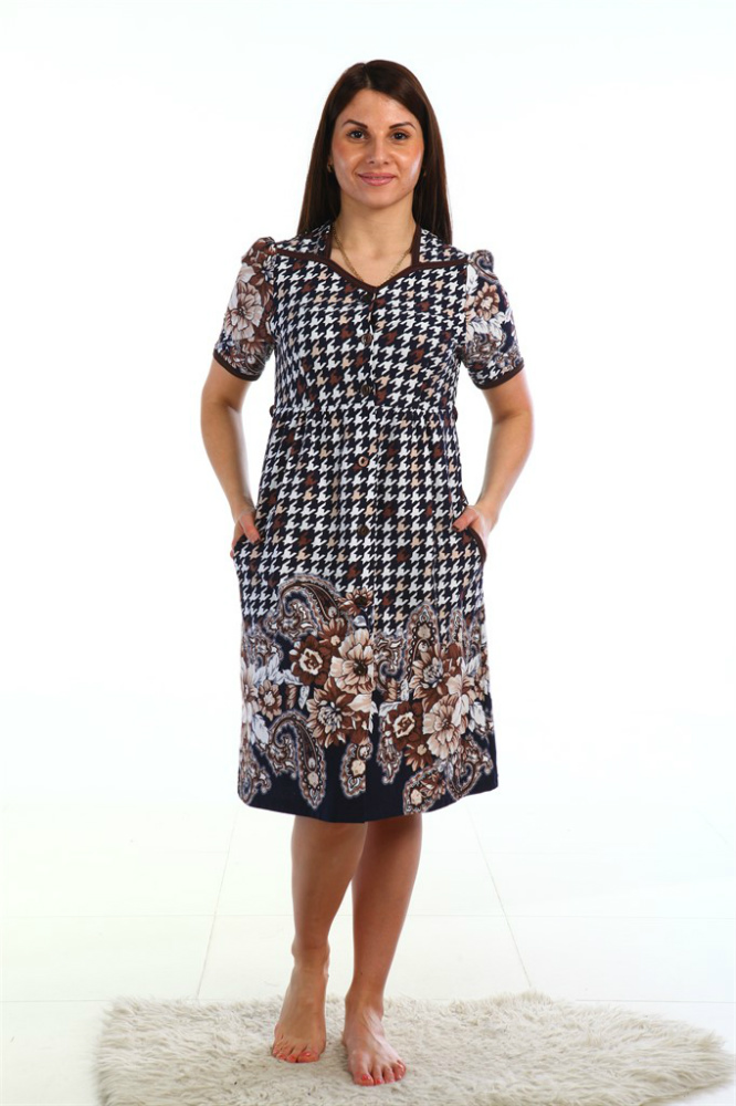 Халат женский АртемидаЛегкие халаты<br>Размер: 48<br><br>Принадлежность: Женская одежда<br>Основной материал: Кулирка<br>Вид товара: Одежда<br>Материал: Кулирка<br>Состав: 100% хлопок<br>Длина рукава: Короткий<br>Длина: 19<br>Ширина: 17<br>Высота: 9<br>Размер RU: 48