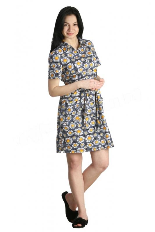 Халат женский ИонаЛегкие халаты<br>На халате два накладных кармана.<br><br>Длина изделия по середине спинке:<br>46-48 размеры 93 см<br>50-56 размеры 100 см Размер: 56<br><br>Высота: 4<br>Размер RU: 56